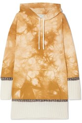 3.1 Phillip Lim Tie Dyed Cotton Jersey Hoodie Yellow
