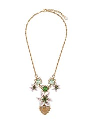 Dolce And Gabbana Floral Necklace Gold
