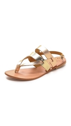 Joie A La Plage Positano Metallic Sandals Platinum Rose Gold