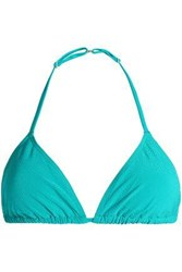 Orlebar Brown Jacquard Triangle Bikini Top Turquoise