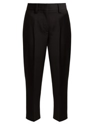 Acne Studios Wool And Mohair Blend Trousers Black