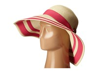 Lauren Ralph Lauren Paper Straw Bright Natural Sun Hat Natural Exotic Pink Traditional Hats