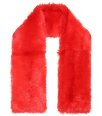 Calvin Klein 205W39nyc Oversized Shearling Scarf Red