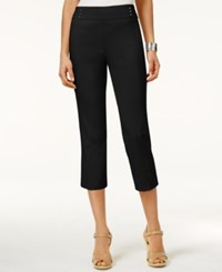 Jm Collection Embellished Pull On Capri Pants Only At Macy's Deep Black