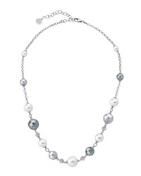 Majorica Multi Pearl And Cubic Zirconia Necklace