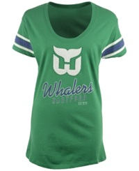 '47 Brand Women's Hartford Whalers Off Campus Scoop T Shirt Kelly Green