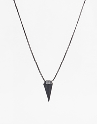 Icon Brand Crystal Necklace Black