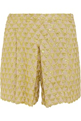 J.Crew Sequined Cotton Gauze Shorts