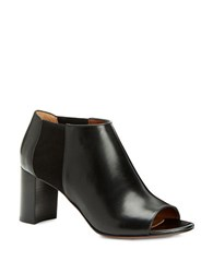 Aquatalia By Marvin K Shaw Leather Open Toe Booties Black