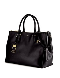 Lauren Ralph Lauren Newbury Leather Double Zip Satchel Black