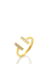 Kate Spade Dainty Sparklers Bar Ring Clear