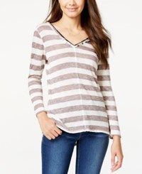 American Rag Striped V Neck Sweater Only At Macy's Cordial Combo