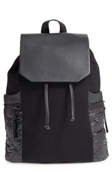 Phase 3 Denim And Faux Leather Backpack