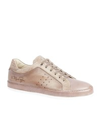 Stefano Ricci Perforated Leather Sneakers Male Beige