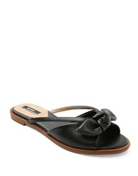 Kensie Major Bow And Cutout Sandals Black