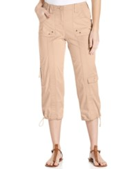 Styleandco. Style And Co. Cargo Capri Pants Pink Bliss