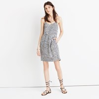 Madewell Silk Sunlight Cami Dress In Painted Feathers