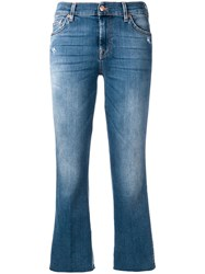 7 For All Mankind Cropped Slim Illusion Figaro Jeans Blue
