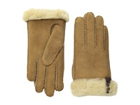 Ugg Tenney Glove With Leather Trim Chestnut M Dress Gloves Tan