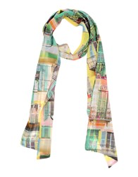 Anna Rachele Jeans Collection Oblong Scarves Green