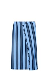 Acne Studios Karlis Striped Skirt Blue
