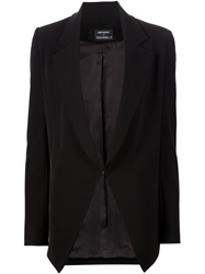 Anthony Vaccarello Single Button Blazer Black
