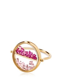 Aurelie Bidermann Damier Chivoir Loose Stones Gold Ring