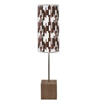 Jefdesigns Tile 1 Cuboid Table Lamp Brown