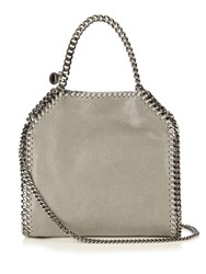 Stella Mccartney Falabella Mini Faux Suede Cross Body Bag Light Grey