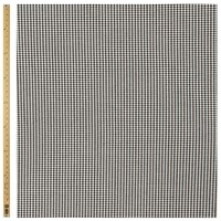 John Lewis Small Houndstooth Stretch Fabric Black Cream