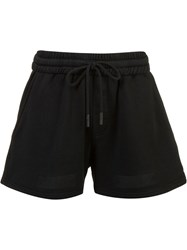 Off White Auction House Stripe Print Shorts Black