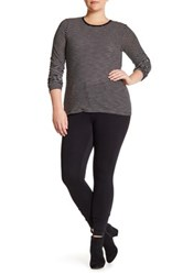 One 5 One Front Button Ponte Legging Pant Black