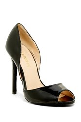 Liliana Zia Open Toe Pump Black