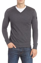Canada Goose Mcleod V Neck Merino Wool Sweater Iron Grey