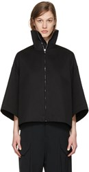 Rick Owens Black Jumbo Cropped Windbreaker Jacket