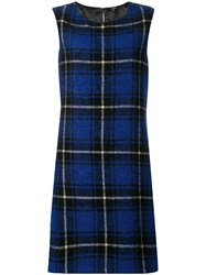 Aspesi Checked Mini Dress Blue