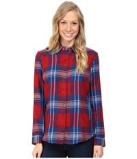 Kuhl Ophelia Flannel Shirt Red Spice Women's Long Sleeve Button Up Brown