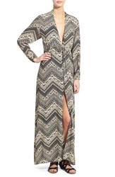 Women's See You Monday Deep V Neck Maxi Dress