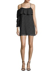 Lucca Couture Polka Dot Ruffled Dress Black Dot