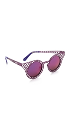 House Of Holland Cagefighter Sunglasses Purple Purple Mirror