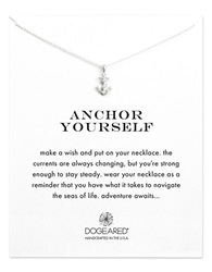 Dogeared Reminder Anchor Yourself Sterling Silver Pendant Necklace