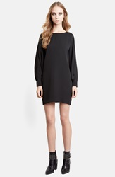 Saint Laurent Batwing Sleeve Dress Black