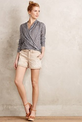 Pilcro Hyphen Laced Chino Shorts Beige
