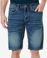 Buffalo David Bitton Men's Parker X Denim Shorts Veined And Blasted