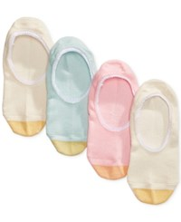 Gold Toe Women's 4 Pk. Lace Trim Invisible Socks Blush