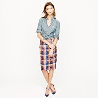 J.Crew Collection Pencil Skirt In Electric Plaid