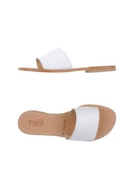 Fabio Rusconi Clog Sandals White
