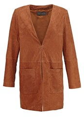 Esprit Collection Leather Jacket Caramel Brown