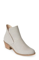 Me Too Women's Perforated Bootie Dove Grey
