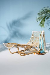 Anthropologie Canyon Indoor Outdoor Lounge Chair Neutral